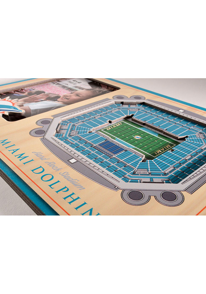 Miami Dolphins Stadium View 4x6 Picture Frame - Image 3