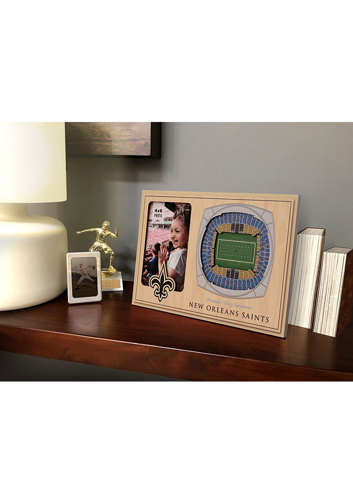 New Orleans Saints Stadium View 4x6 Picture Frame - Image 1