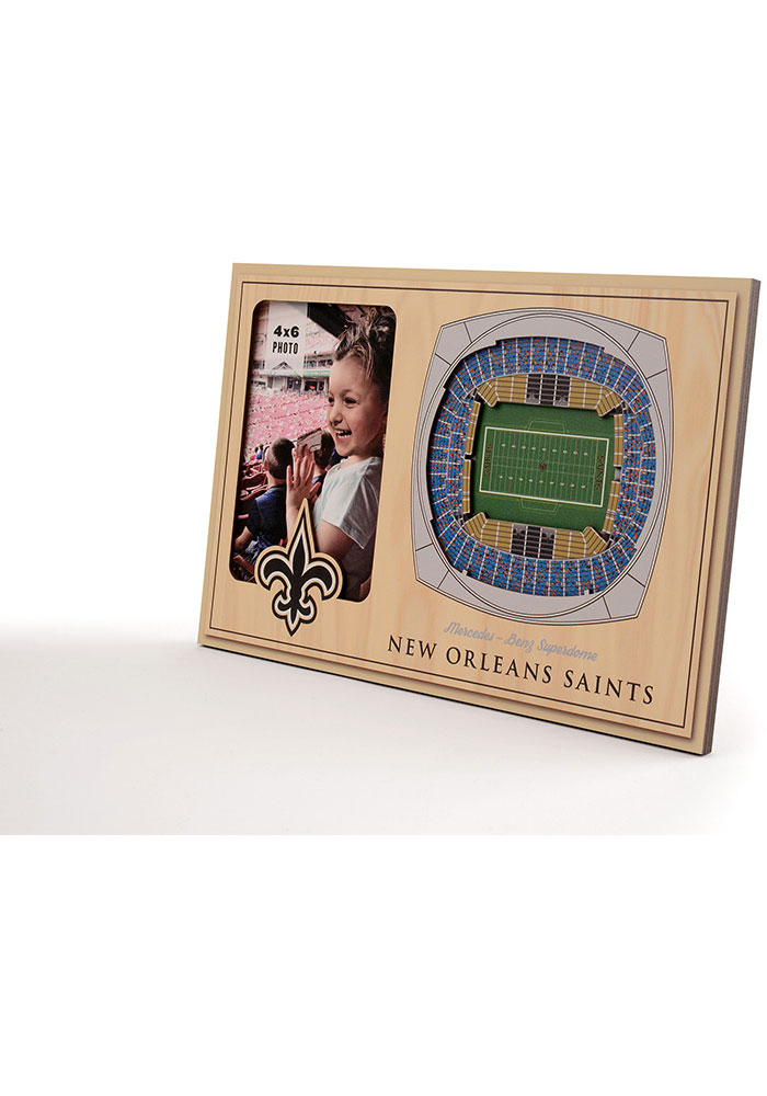 New Orleans Saints Stadium View 4x6 Picture Frame - Image 2