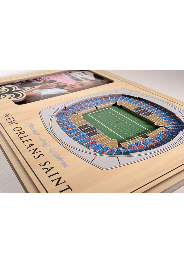 New Orleans Saints Stadium View 4x6 Picture Frame - Image 3
