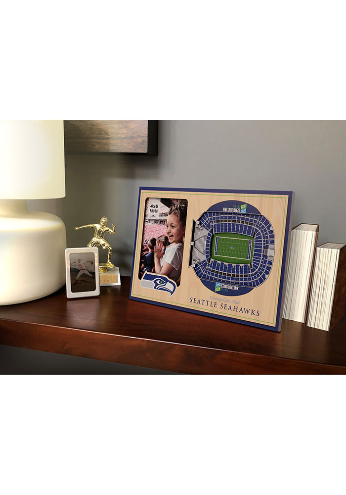 Seattle Seahawks Stadium View 4x6 Picture Frame - Image 1