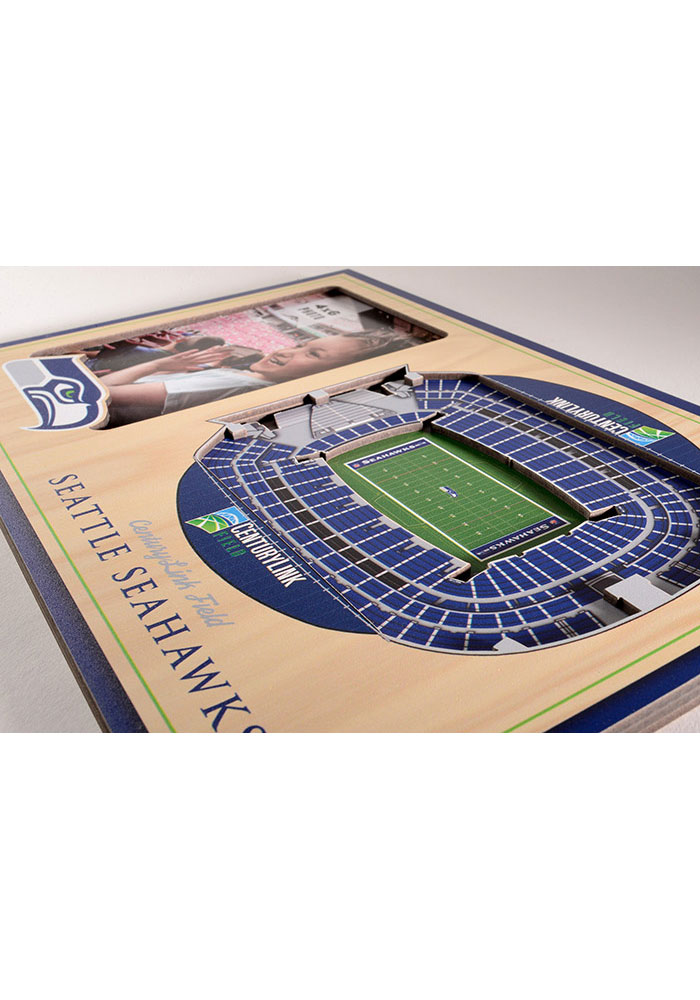 Seattle Seahawks Stadium View 4x6 Picture Frame - Image 3