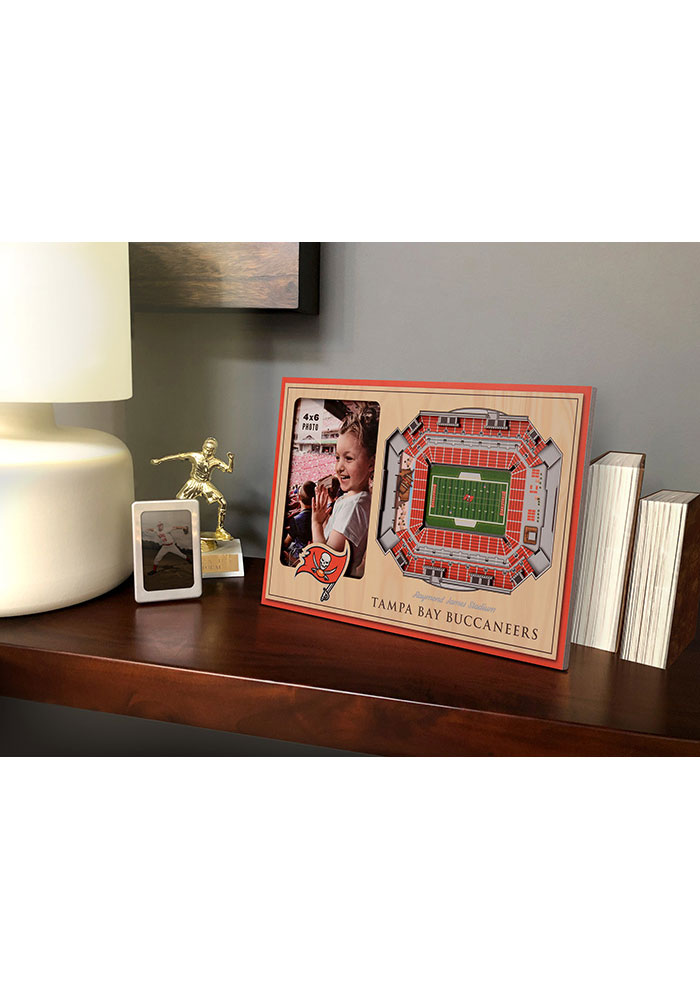 Tampa Bay Buccaneers Stadium View 4x6 Picture Frame - Image 1