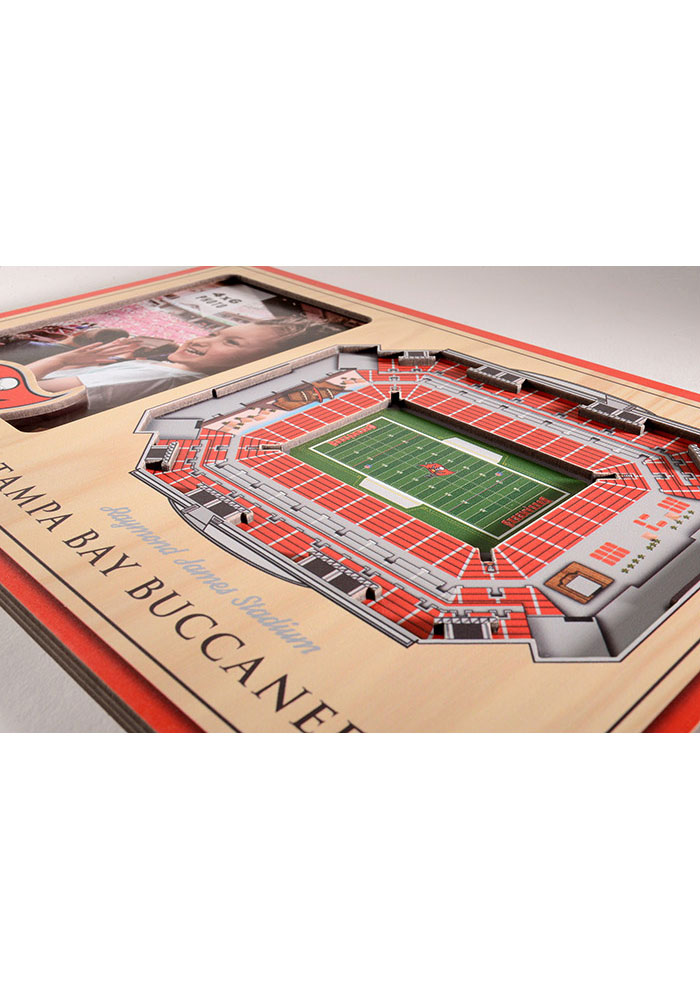 Tampa Bay Buccaneers Stadium View 4x6 Picture Frame - Image 3