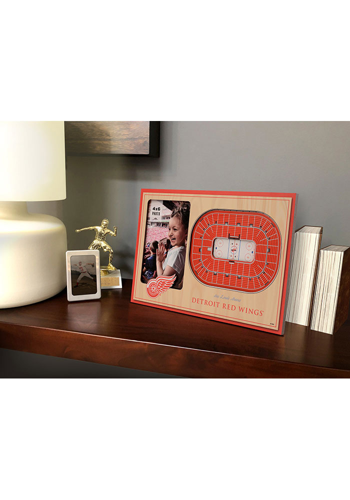 Detroit Red Wings Stadium View 4x6 Picture Frame - Image 1