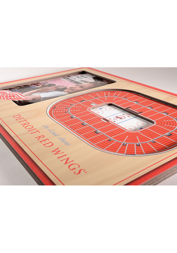 Detroit Red Wings Stadium View 4x6 Picture Frame - Image 3
