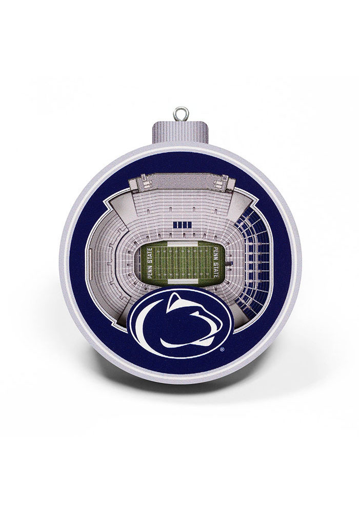 Penn State Nittany Lions 3D Stadium View Ornament