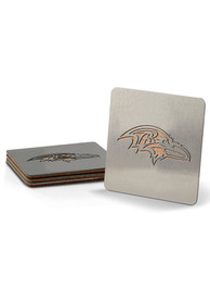 Baltimore Ravens 4 Pack Stainless Steel Boaster Coaster