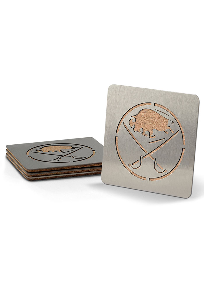Buffalo Sabres 4 Pack Stainless Steel Boaster Coaster