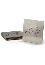 Carolina Panthers 4 Pack Stainless Steel Boaster Coaster