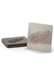 Detroit Red Wings 4 Pack Stainless Steel Boaster Coaster