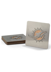 Miami Dolphins 4 Pack Stainless Steel Boaster Coaster
