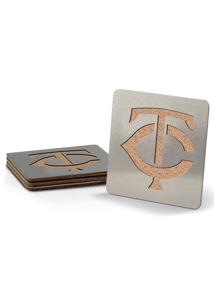 Minnesota Twins 4 Pack Stainless Steel Boaster Coaster - Image 1