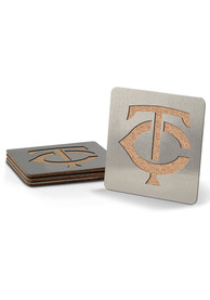 Minnesota Twins 4 Pack Stainless Steel Boaster Coaster
