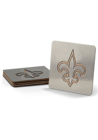 New Orleans Saints 4 Pack Stainless Steel Boaster Coaster