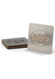 New York Jets 4 Pack Stainless Steel Boaster Coaster
