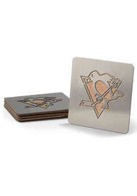 Pittsburgh Penguins 4 Pack Stainless Steel Boaster Coaster