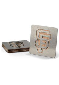 San Francisco Giants 4 Pack Stainless Steel Boaster Coaster