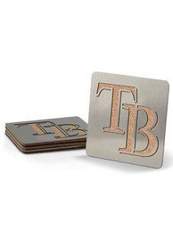 Tampa Bay Rays 4 Pack Stainless Steel Boaster Coaster