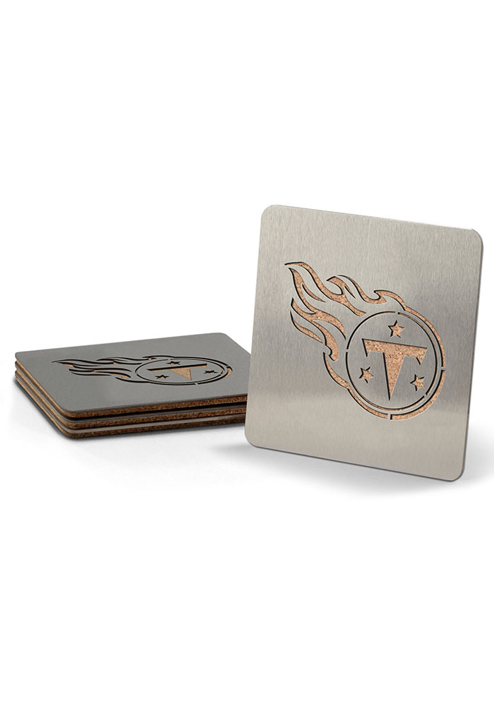 Tennessee Titans 4 Pack Stainless Steel Boaster Coaster - Image 1