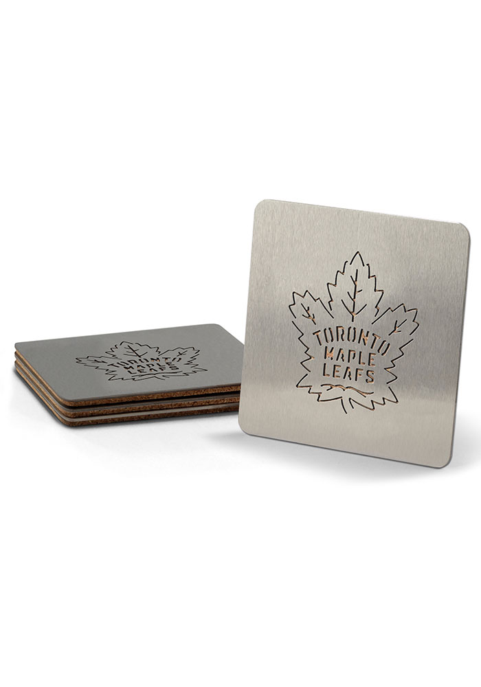 Toronto Maple Leafs 4 Pack Stainless Steel Boaster Coaster - Image 1