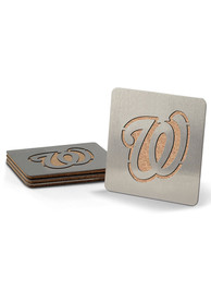 Washington Nationals 4 Pack Stainless Steel Boaster Coaster