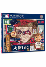 Atlanta Braves 500 Piece Retro Puzzle