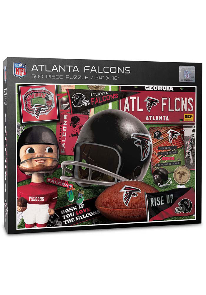 Atlanta Falcons 500 Piece Retro Puzzle - Image 1