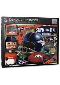 Denver Broncos 500 Piece Retro Puzzle
