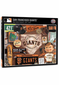 San Francisco Giants 500 Piece Retro Puzzle