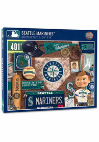 Seattle Mariners 500 Piece Retro Puzzle