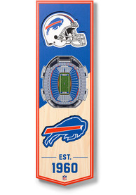 Buffalo Bills 6x19 inch 3D Stadium Banner