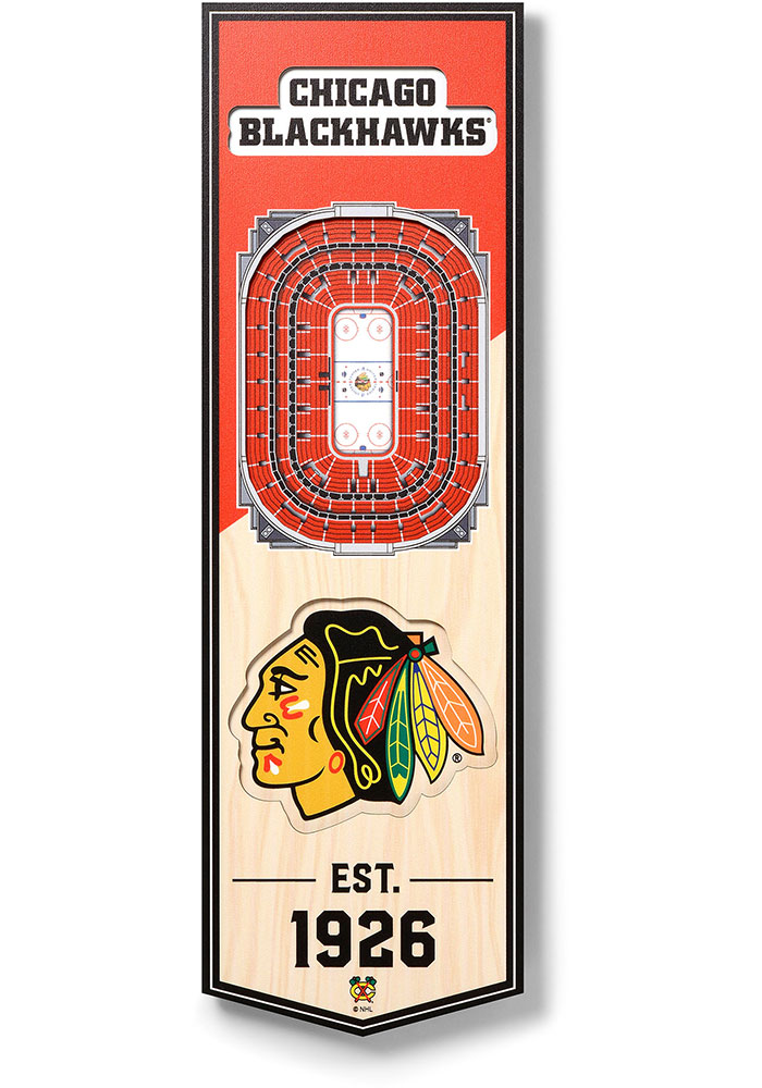 Chicago Blackhawks 6x19 inch 3D Stadium Banner