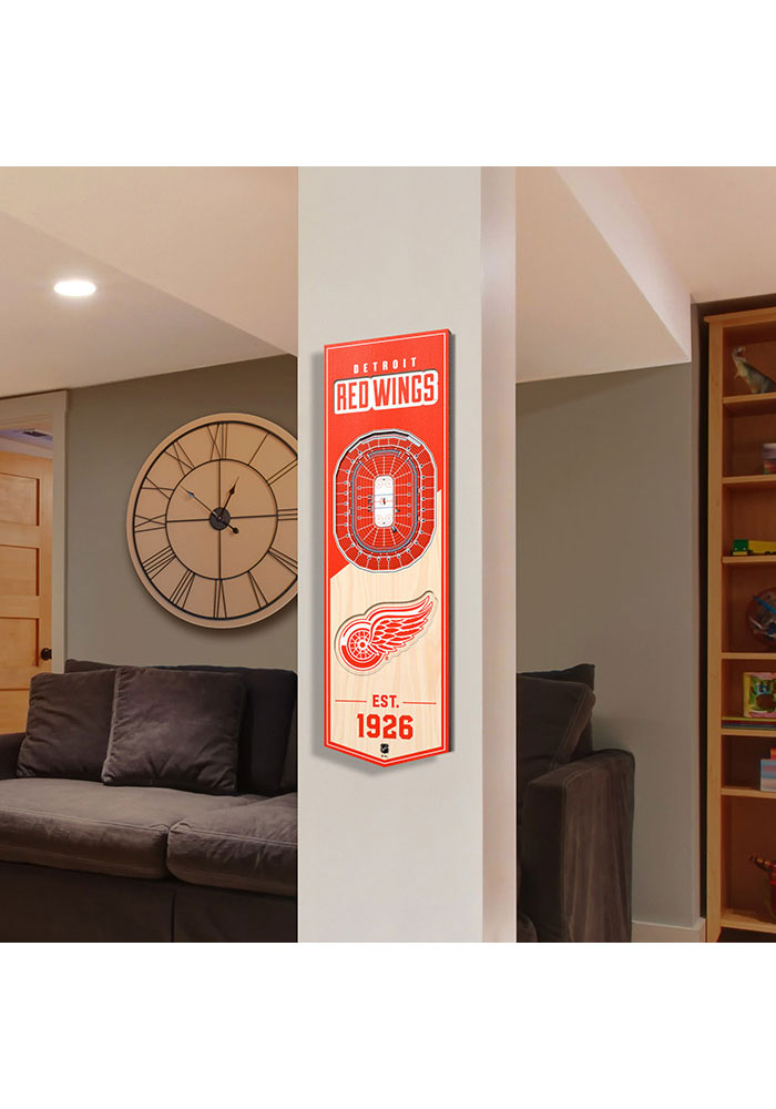 Detroit Red Wings 6x19 inch 3D Stadium Banner - Image 3