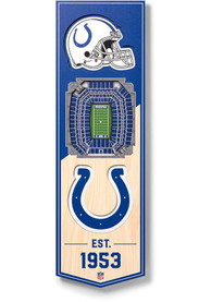 Indianapolis Colts 6x19 inch 3D Stadium Banner