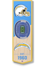 Los Angeles Chargers 6x19 inch 3D Stadium Banner