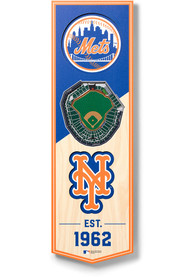New York Mets 6x19 inch 3D Stadium Banner