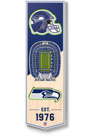 Seattle Seahawks 6x19 inch 3D Stadium Banner