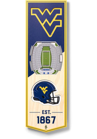 West Virginia Mountaineers 6x19 inch 3D Stadium Banner