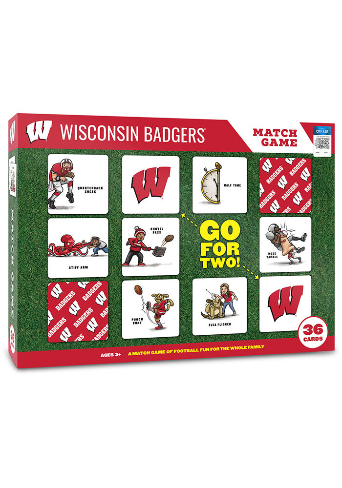 Wisconsin Badgers Memory Match Game - Image 1