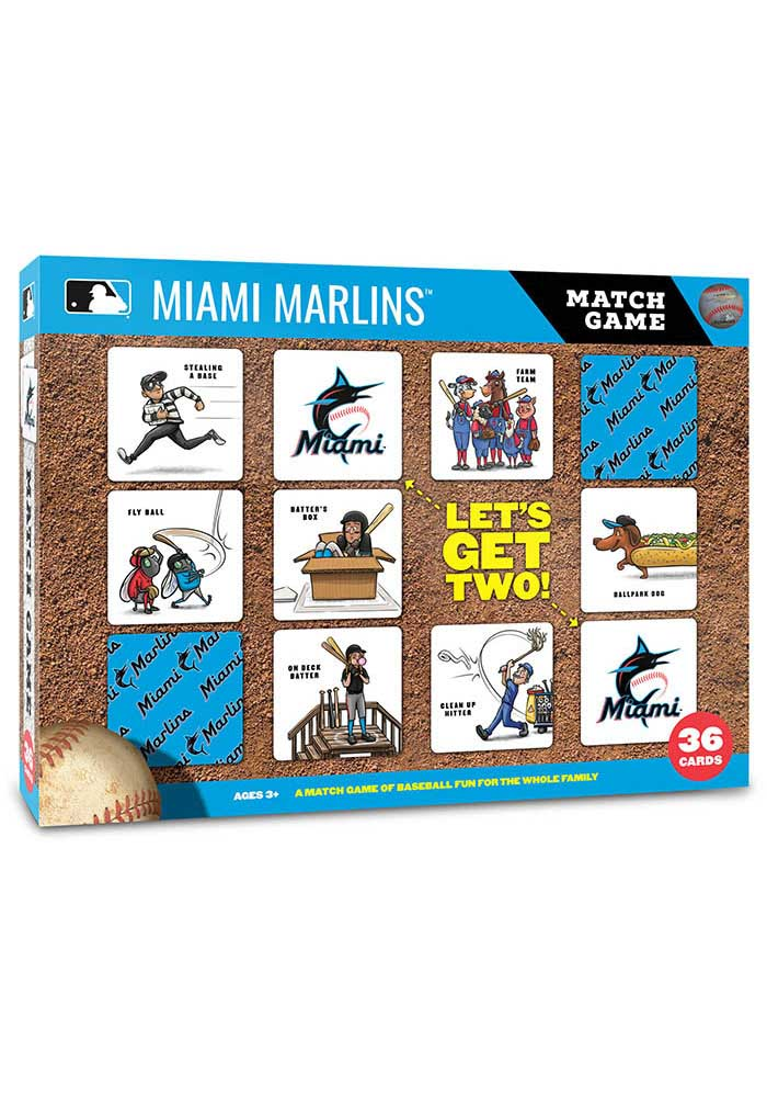 Miami Marlins Memory Match Game - Image 1
