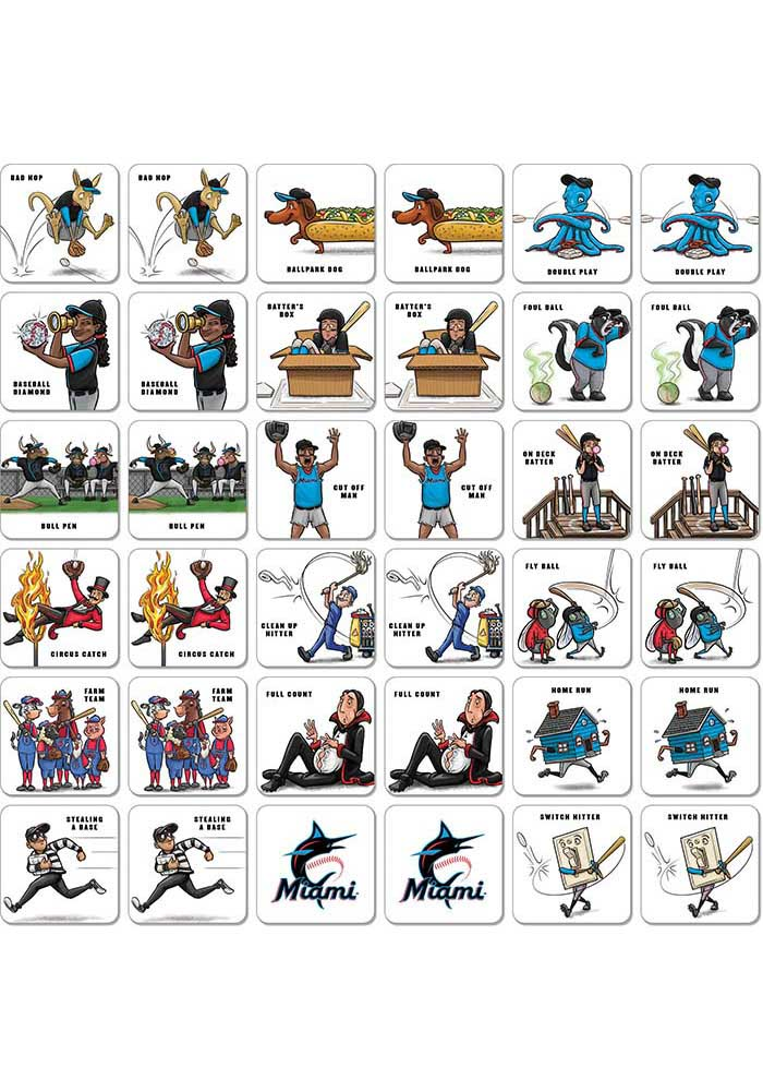 Miami Marlins Memory Match Game - Image 2