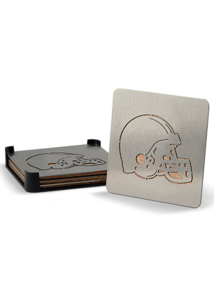 Cleveland Browns Stainless Steel 4-Pack Coaster