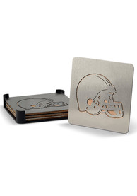 Cleveland Browns 4pk Stainless Steel Coaster