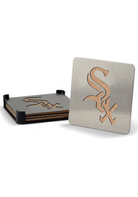 Chicago White Sox 4pk Stainless Steel Coaster