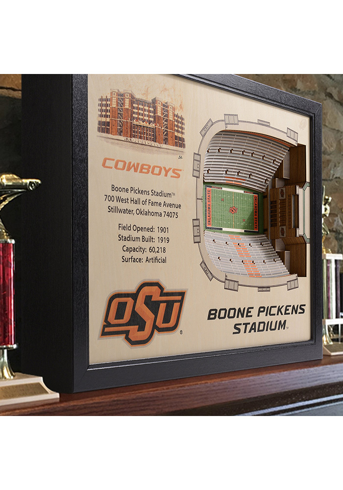 Oklahoma State Cowboys 3D Stadium View Wall Art - Image 2