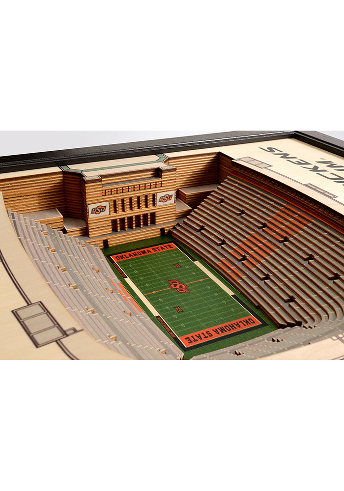 Oklahoma State Cowboys 3D Stadium View Wall Art - Image 3