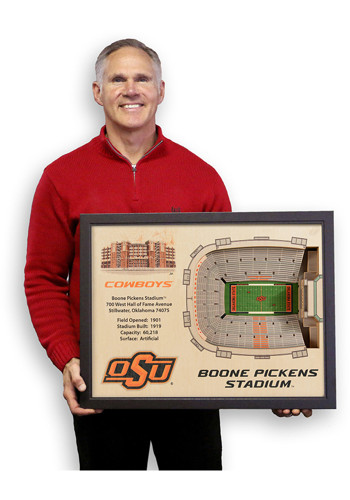 Oklahoma State Cowboys 3D Stadium View Wall Art - Image 4