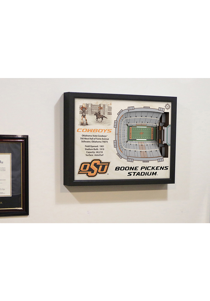 Oklahoma State Cowboys 3D Stadium View Wall Art - Image 5
