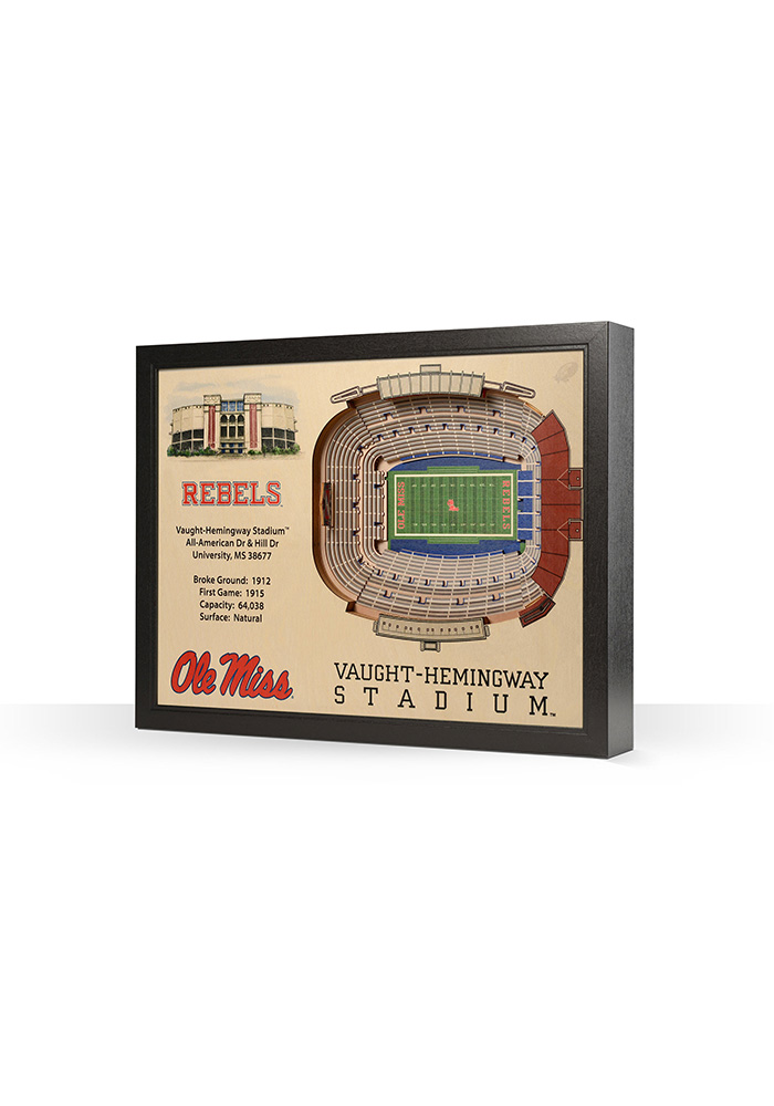 Ole Miss Rebels 3D Stadium View Wall Art - Image 1
